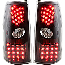 Driver and Passenger Side Tail Light, With bulb(s) - Clear Lens, Black Interior, Exc. Hybrid