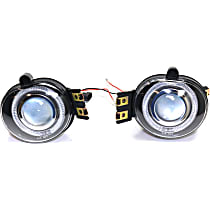 Halo, Front, Driver and Passenger Side Fog Light, With bulb(s)
