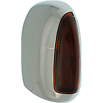 Mirror Cover - Driver Side, Chrome, Towing, Plastic, Direct Fit