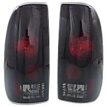 Driver and Passenger Side Tail Light, Without bulb(s) - Clear Lens; Blk Interior, Styleside