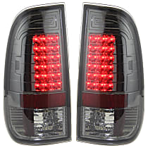 Driver and Passenger Side Tail Light, Without bulb(s) - Smoked Lens