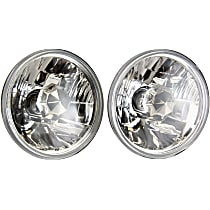 Driver and Passenger Side Halogen Headlight, With bulb(s) - 5 in. Round Conversion Headlight, H5001 Type Upgrade