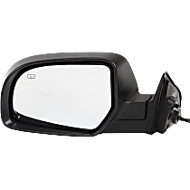 Mirror - Driver Side, Power, Heated, With Paintable and Textured Black Caps