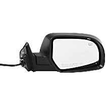 Mirror - Passenger Side, Power, Heated, With Paintable and Textured Black Caps