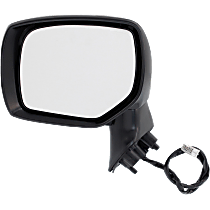 Mirror - Driver Side, Power, With Paintable and Textured Black Caps