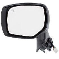 Mirror Heated - Driver Side, 2 Caps - Paintable & Textured Black