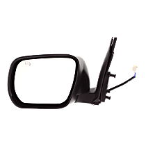 Mirror Manual Folding Heated - Driver Side, Paintable