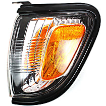 Driver Side Corner Light, With bulb(s) - With Black Trim
