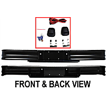 Painted Black Step Bumper, Without mounting bracket(s)