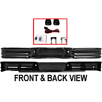 61000 Painted Black Step Bumper, Without mounting bracket(s)