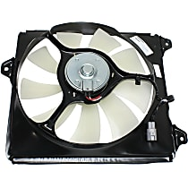 OE Replacement A/C Condenser Fan - 6cyl, Passenger Side