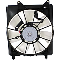 OE Replacement Radiator Fan - Driver Side, Fits Radiators w/ 1-inch Core Thickness