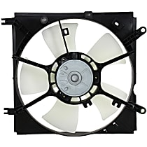 Radiator Fan Shroud Assembly - 5 Fan Blades, Driver Side