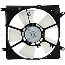 OE Replacement Radiator Fan Shroud Assembly - 5 Fan Blades, Driver Side