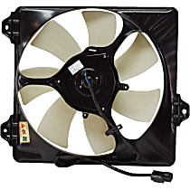 A/C Condenser Fan Shroud Assembly - 7 Fan Blades, Passenger Side