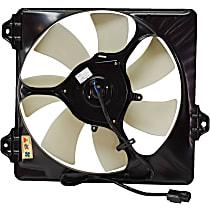 OE Replacement A/C Condenser Fan Shroud Assembly - 7 Fan Blades, Passenger Side