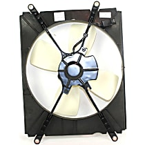 OE Replacement A/C Condenser Fan - 4cyL Passenger Side