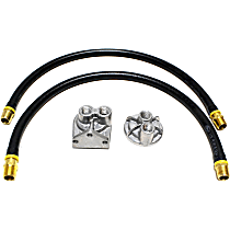 1113 Oil Filter Relocation Kit - Polished, Aluminum, Single oil filter, Direct Fit