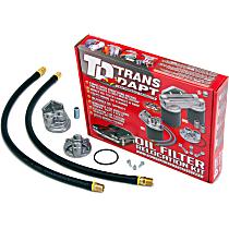 1120 Oil Filter Relocation Kit - Polished, Aluminum, Single oil filter, Direct Fit