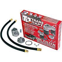 1122 Oil Filter Relocation Kit - Polished, Aluminum, Single oil filter, Direct Fit