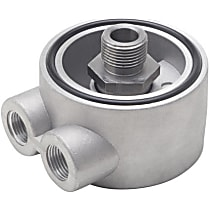1320 Oil Filter Adapter - Natural, Aluminum, Direct Fit