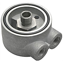 1350 Oil Filter Adapter - Natural, Aluminum, Direct Fit