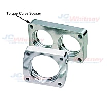 Throttle Body Spacer - Natural, Aluminum, Direct Fit, Sold individually