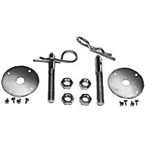 4051 Hood Pins - Chrome, Steel, Hair pin, Universal