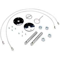4056 Hood Pins - Chrome, Steel, Flip-over, Universal