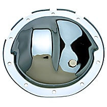 Differential Cover - Chrome, Steel, Direct Fit, Sold individually Front Or Rear