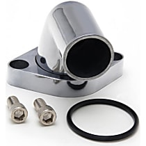 6007 Thermostat Housing - Polished, Aluminum, Direct Fit, Sold individually