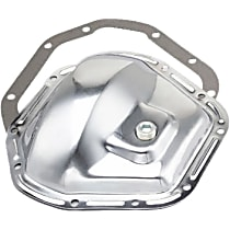 Differential Cover - Chrome, Steel, Direct Fit, Kit Front