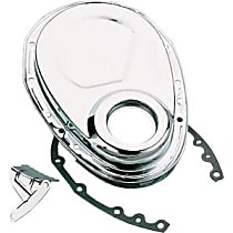 9000 Timing Cover - Chrome, Steel, 1-Piece, Direct Fit, Sold individually