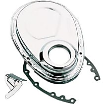 Transdapt 9000 Timing Cover - Chrome, Steel, 1-Piece, Direct Fit, Sold individually