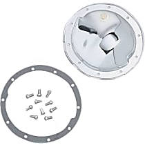 Transdapt 9037 Differential Cover - Chrome, Steel, Direct Fit, Kit