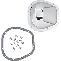 Differential Cover - Chrome, Steel, Direct Fit, Kit Rear