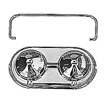 9100 Brake Master Cylinder Cover - Chrome, Steel, Direct Fit