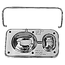 9101 Brake Master Cylinder Cover - Chrome, Steel, Direct Fit