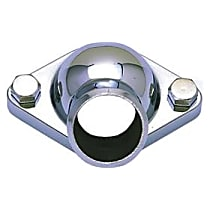 Transdapt 9228 Thermostat Housing - Chrome, Aluminum, Direct Fit, Sold individually