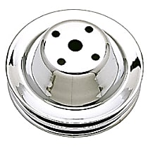 Water Pump Pulley - Chrome, Chrome, Direct Fit, Sold individually