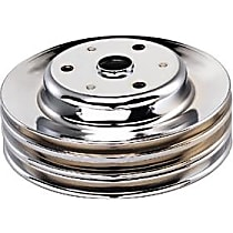 Transdapt 9608 Crankshaft Pulley - Chrome, Steel, Triple groove, Direct Fit, Sold individually