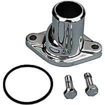 Transdapt 9647 Thermostat Housing - Chrome, Aluminum, Direct Fit, Sold individually