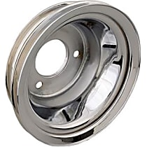 9724 Crankshaft Pulley - Chrome, Steel, Triple groove, Direct Fit, Sold individually