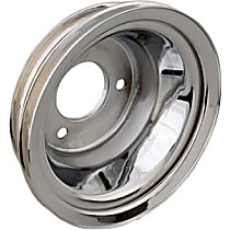 Transdapt 9724 Crankshaft Pulley - Chrome, Steel, Triple groove, Direct Fit, Sold individually