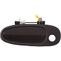 Front, Driver Side Exterior Door Handle, Smooth Black, 4-Door Model, w/ Keyhole