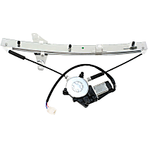 Front, Passenger Side Power Window Regulator, With Motor, Sedan