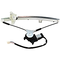 Front, Driver Side Power Window Regulator, With Motor, Sedan