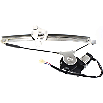 Rear, Driver Side Power Window Regulator, With Motor, Sedan