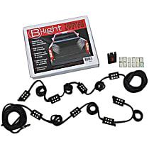 1704523 Truck Bed Light - Black, Direct Fit