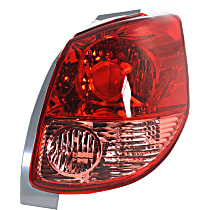 Passenger Side Tail Light, Without bulb(s) - Pink & Red Lens